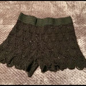 Pants - Lace lined dress shorts